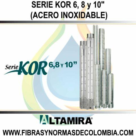 """SERIE KOR 6, 8 Y 10"""" (ACERO INOXIDABLE)"""